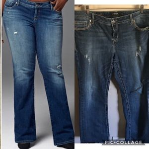 torrid Jeans - Torrid | Relaxed Boot Cut Embellished Jeans